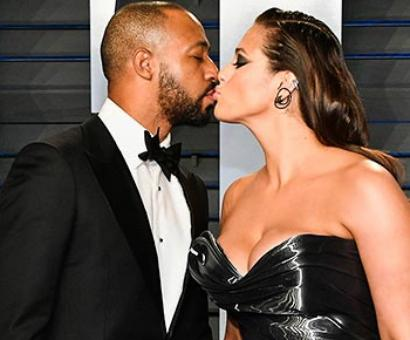 PIX: Ashley Graham's passionate lip lock on the red carpet
