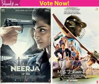 Sushant Singh Rajput's MS Dhoni: The Untold Story or Sonam Kapoor's Neerja  which 2016 movie is the better biopic?