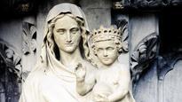 Demonic baby Jesus statue