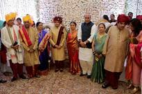 Rajnath Singh, Amit Shah, Mohan Bhagwat and Baba Ramdev attend marriage of Nitin Gadkari's daughter
