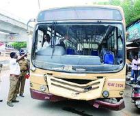 Maharashtra State Road Transport Corporation bus runs over man on highway