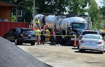 Two men burned by asphalt at public works yard