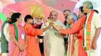 K Chandrasekhar Rao scared of Owaisi, BJP is not, says Amit Shah