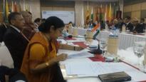 Sushma calls for further consolidation of SAFTA, SATIS