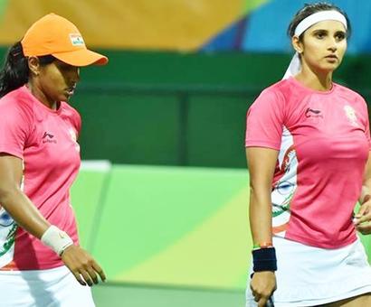 Sania-Prarthana go down fighting to Zhang-Peng
