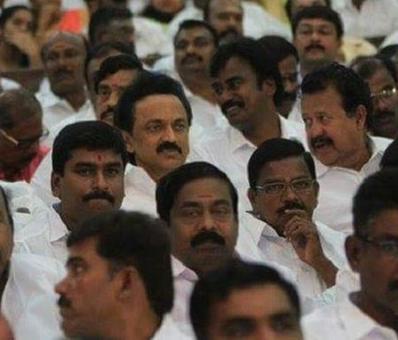 Stalin pushed to back rows at Jaya swearing-in, Karunanidhi livid