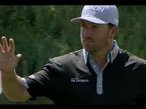 Graeme McDowell knocks down his chip shot for birdie at RBC Canadian