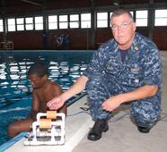 FDR Squadron executes swim quals and underwater robotics