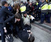 Trump inauguration: 6 policemen injured, 217 protesters arrested in Washington