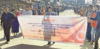 Ukhrul backs FA with human chain, rally