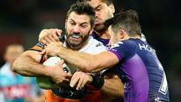 Wests Tigers comeback falls short as Melbourne Storm hold on for victory