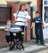 Coleen Rooney takes her kids for a stroll after security scare at Cheshire home