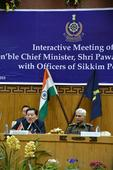 CM interactive meet with the top brass of Sikkim Police