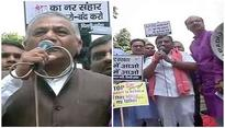 Delhi: BJP holds 'Jan Raksha Yatra', CPM takes out counter protest