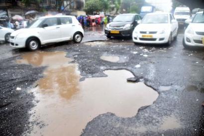 After rains, beware of back-breaking potholes