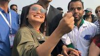 Rani Mukerji begins 'Hichki' promotions by flying kites on the auspicious day