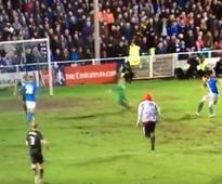 Pitch invader almost scores for non-league side in FA Cup clash
