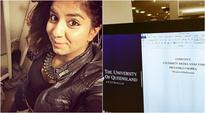 This Indian student chose Priyanka Chopra as the subject of her university paper!