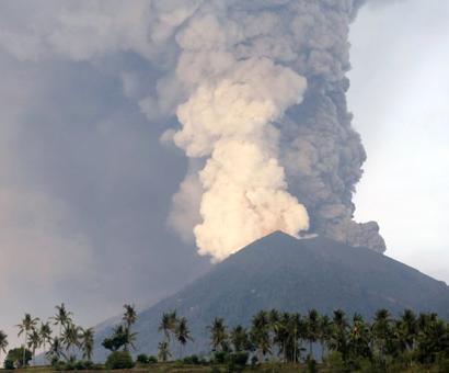 Bali on volcano red alert