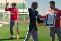 Theo Walcott becomes WORLD RECORD holder after dominating teammates in ball control task