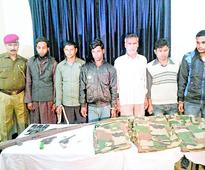 6 arrested, arms recovered