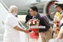 PM Modi landed in Mangaluru