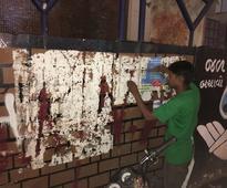 AAPians face heat over Twitter for spoiling Rajkot Chitranagari walls
