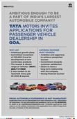 Tata Motors looking new dealers in GOA