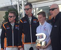 Trophy presented to Honda RYA Youth RIB Champion