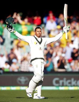 PHOTOS: Khawaja's unbeaten century gives Australia the lead