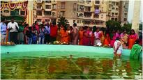 City residents celebrate Chhath Puja in an eco-friendly way