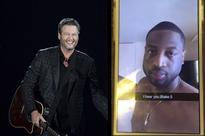 Blake Shelton thanks D-Wade for Snapchat dance