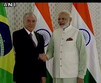 Post BRICS, PM Modi holds bilateral meet with Brazilian President