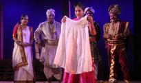 A Scene from Tapoi Returns by Hari Bhai Comedy Club, Staged at Rabindra Mandap, Bhubaneswar on March 28, 2016