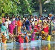 Strict vigil, blind eye mark Chhath revelry at Sarobar