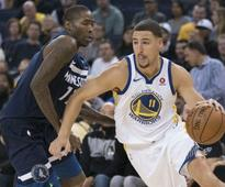 NBA: Klay Thompson drives Warriors to win over Timberwolves; Celtics cruise past Lakers