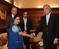 Swaraj meets Lankan Prez, talks with leaders
