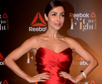 Malaika takes the plunge in a red dress