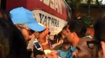 Watch | India vs Bangladesh: MS Dhoni plays Holi with fans