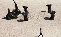 Australia's annual sculpture by the sea exhibition showcases over 100 giant figures