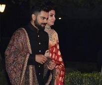 See pics: It's all traditional for Anushka, Virat at Delhi reception
