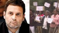 Day before second phase of Gujarat polls, UP farmers protest, raise slogans against Rahul Gandhi in Amethi