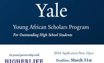 Africa: Yale Young African Scholars Program - 2016 Applications Now Open(YASS)
