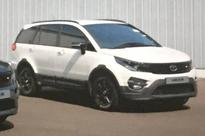 Tata Hexa white colour variant spied for the first time