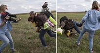 Syrian refugee, tripped by journalist, sad but hopeful