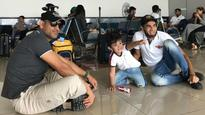 WATCH | Taare zameen par: MS Dhoni sits on airport floor, bonds with Imran Tahir's son