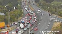 Crash blocking northbound lanes, north of Wellington