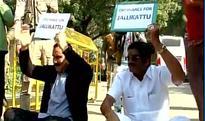 Anbumani Ramadoss sit-in outside Narendra Modi's residence seeking ordinance lifting ban on Jallikattu