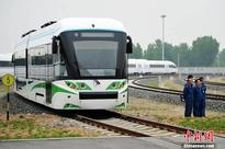 New hydrogen-powered tram off assembly line