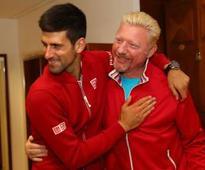 Djokovic splits with Becker